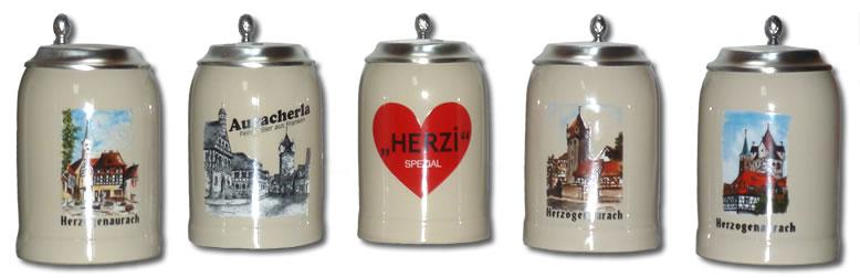 Bierkrüge mit regionalen Motiven - Herzogenauracher Geschenkideen ...